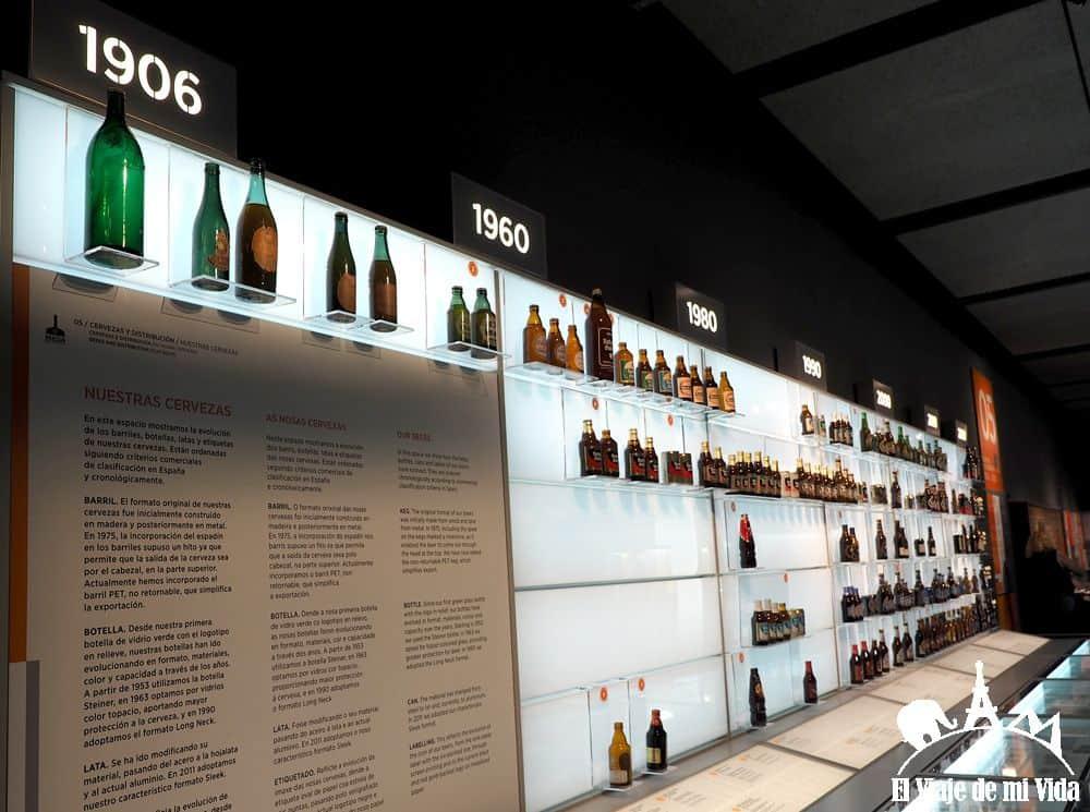 Las diferentes botellas de Estrella Galicia