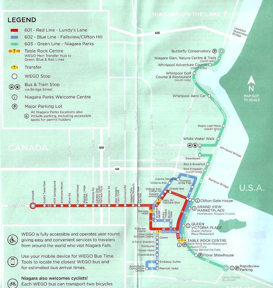 Mapa Niagara Falls