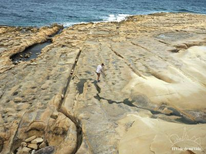 Surcos en las playas de Sliema