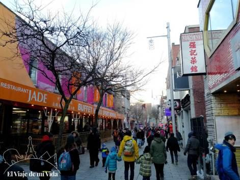 El barrio de Chinatown en Montreal