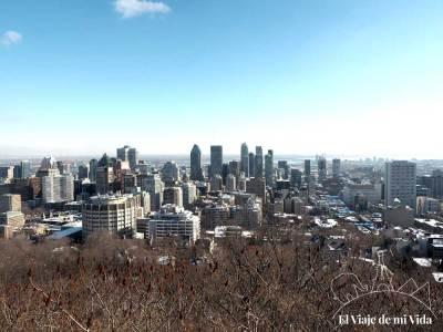 Vistas a Montreal desde el Mont Royal