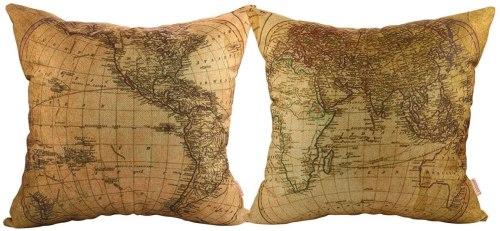 Cojines Mapa del Mundo