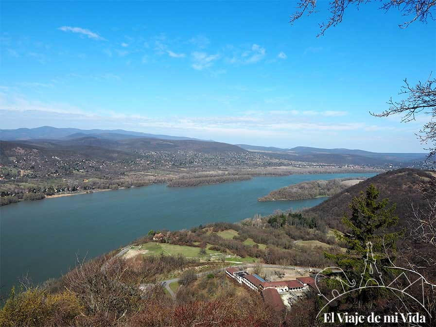 Vistas al Danubio desde la fortaleza de Visegrad