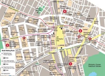 11 Mapa Shinjuku Tokyo