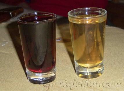 Vodka y licor de miel