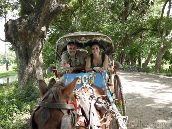 Mandalay, Paseo en carro de caballos en Inwa