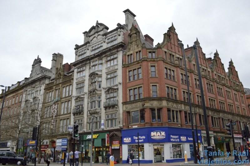 Las calles de los grandes almacenes de Manchester