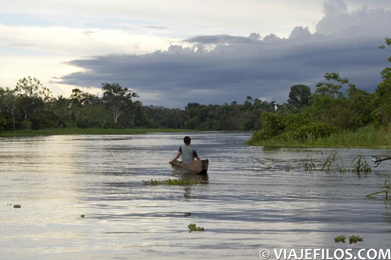 Atardeceres de uno de los 3 dias en la selva del Amazonas de Peru