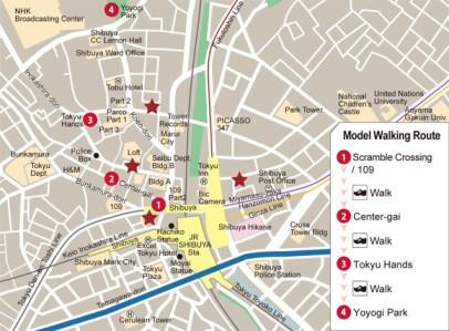 9 Mapa Shibuya Tokyo