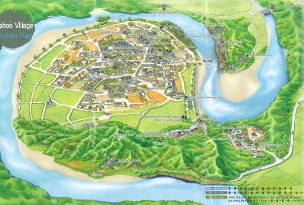 Mapa Aldea Hahoe