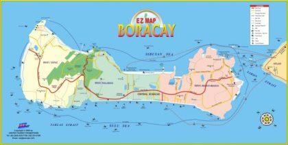 Mapa Boracay