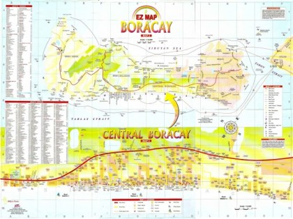 Mapa Boracay White Beach