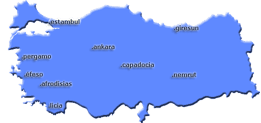 Mapa Costa Licia Turquia