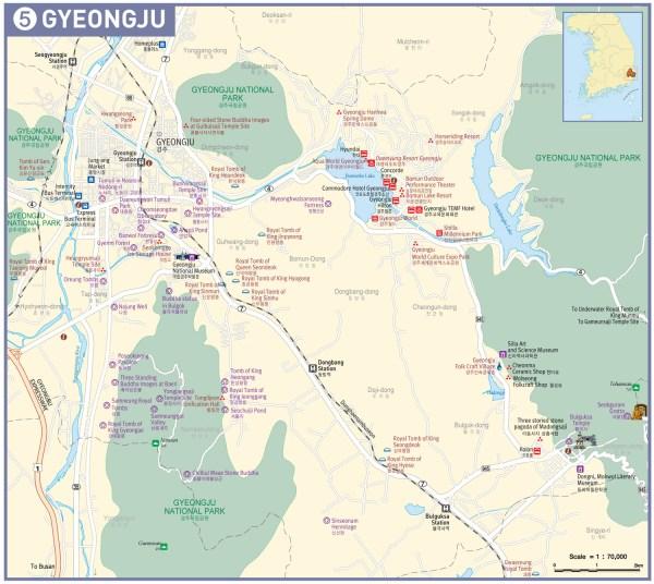 Mapa Gyeongju