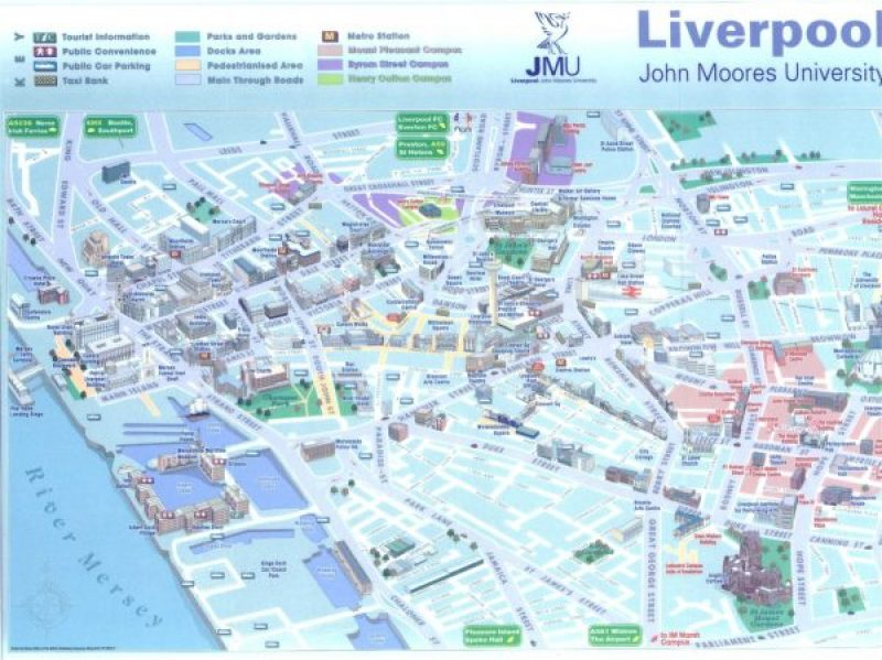 Mapa de la ciudad de Liverpool