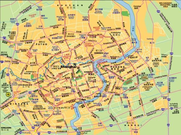 Mapa Shanghai