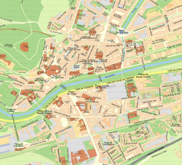 Mapa turismo Burgos