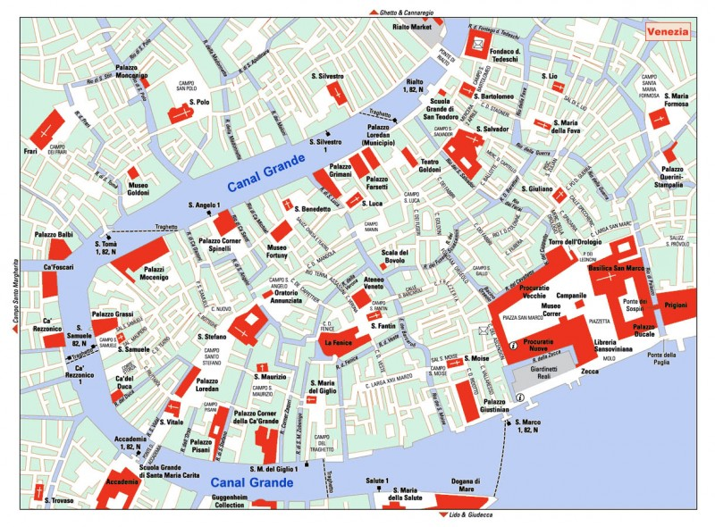 Mapa turistico Venecia