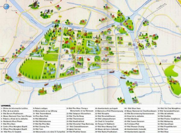 Plano turistico Ayuthaya