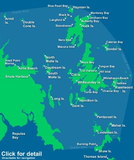 Vhitesunday islands