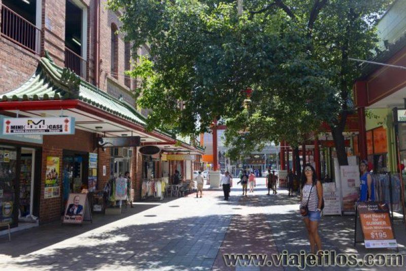 Alrededores de Central Market en Adelaida, mientras recorríamos Australia por libre