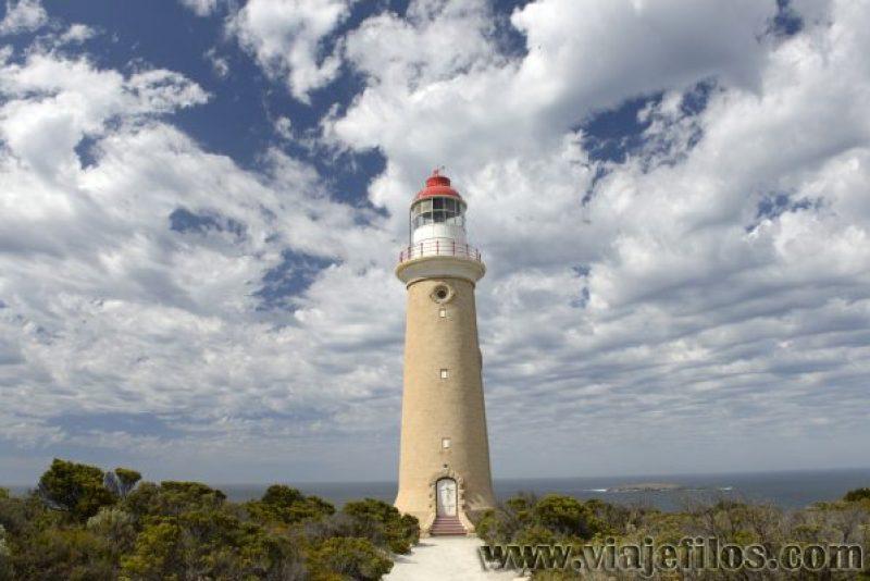 Faro de Cape du Coudeic en la isla de Kangaroo