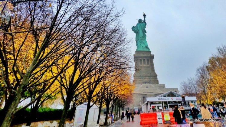 Nova York no outono - Ilha da Estátua da Liberdade