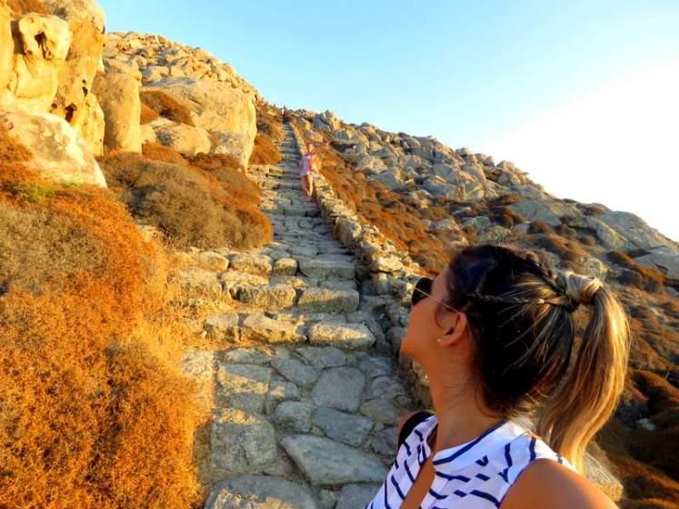Monte Kynthos - Ilha de Delos