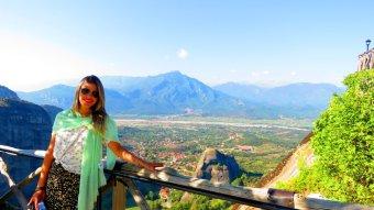 Vista da cidade de Meteora