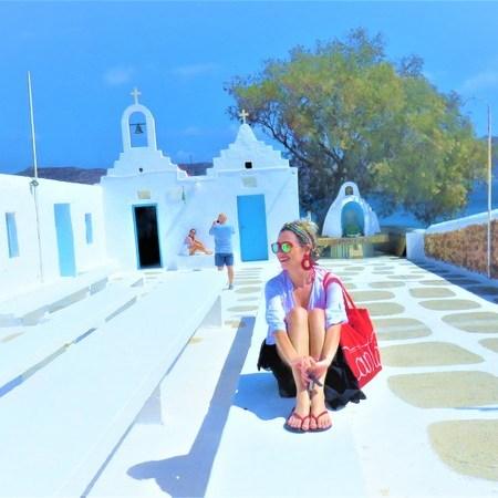 Look de praia em Mykonos