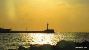 Região do porto em Mykonos