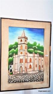 Quadro retratando a principal Igreja da cidade
