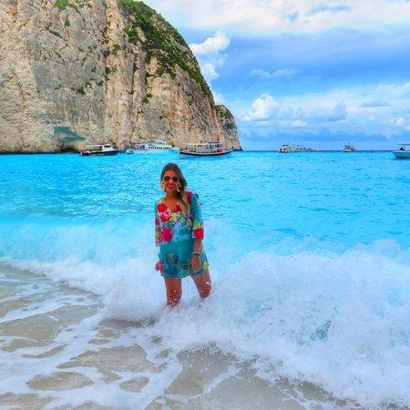 Praia Navagio na Grécia