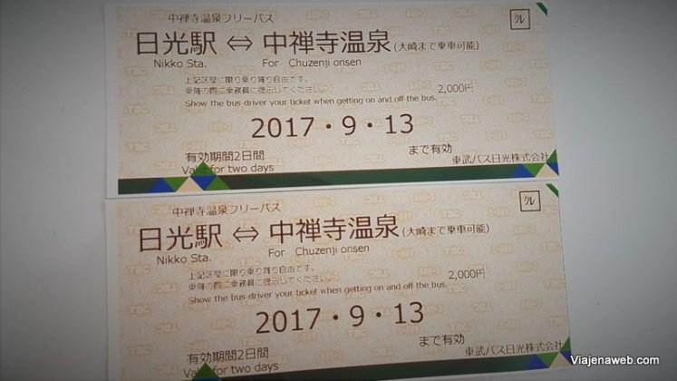 Quanto custa viajar para o Japão - Passagem de ônibus em Nikko