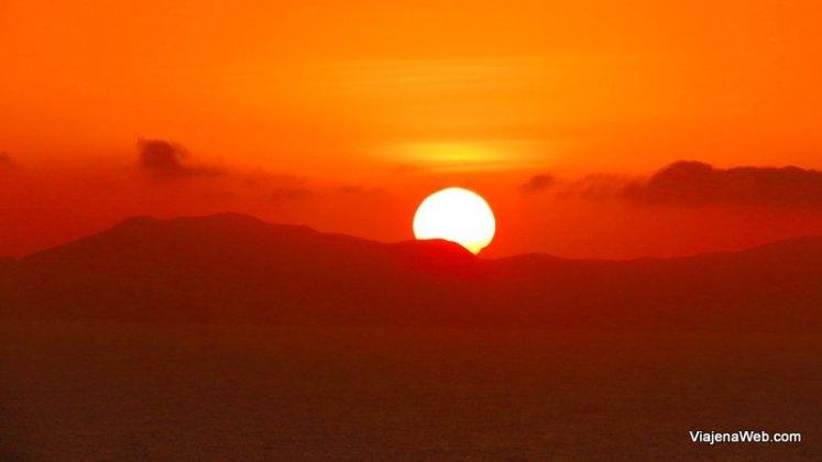 Por do sol em Lima - Vista do oceano pacífico