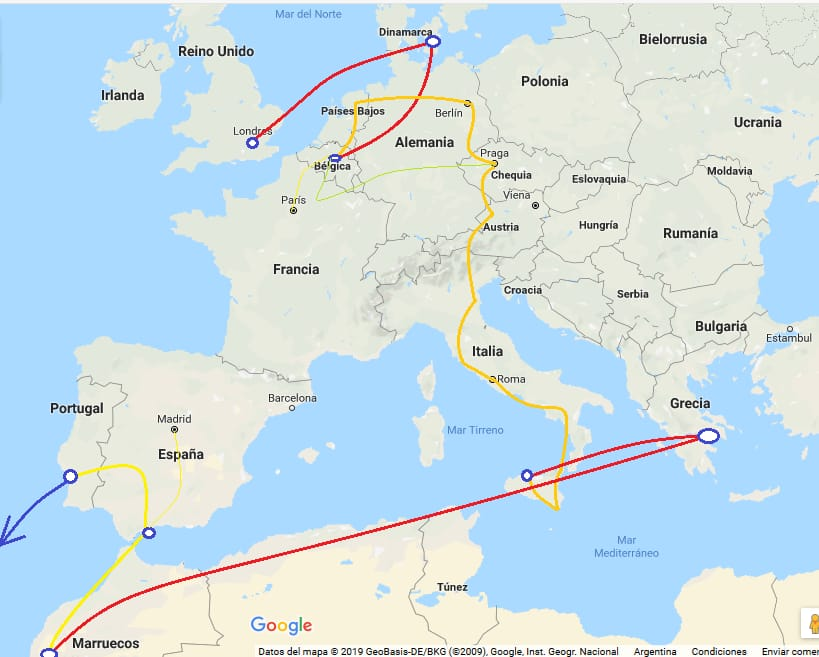 Itinerario inicial