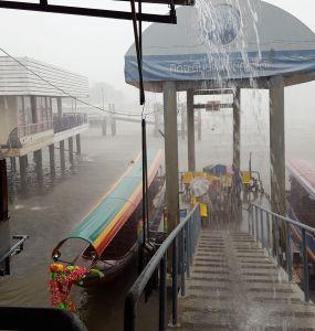 Lluvia en el Río Chao Phraya