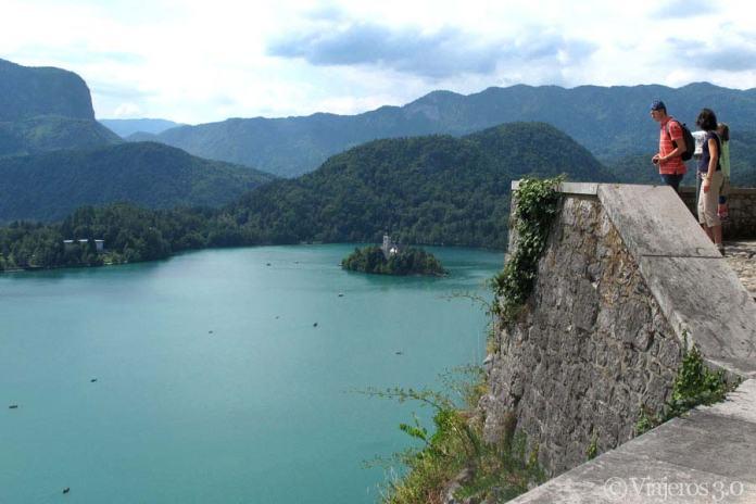 vistas del lago Bled desde el castillo