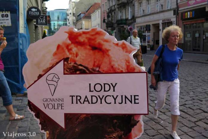 lody, helado en Polonia