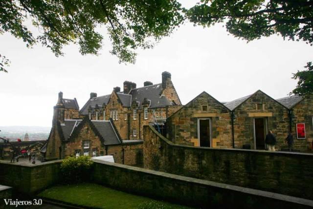interior del castillo de Edimburgo