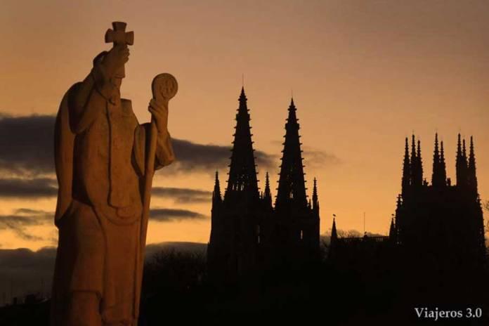 puesta de sol catedral de Burgos
