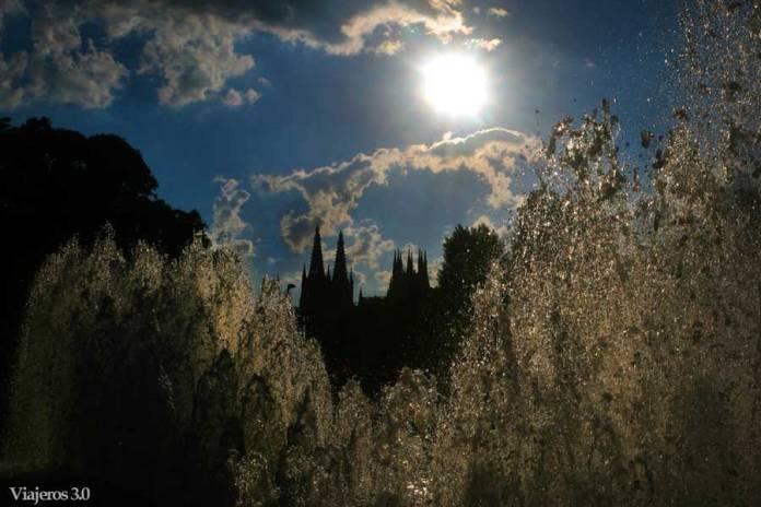 atardecer Catedral de Burgos