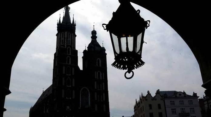 basílica de Santa María en Cracovia Polonia