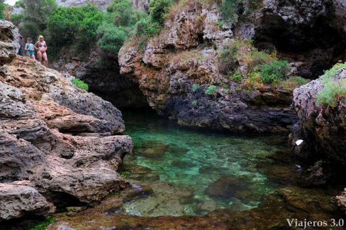 Salvaje cala Rafalet en Menorca
