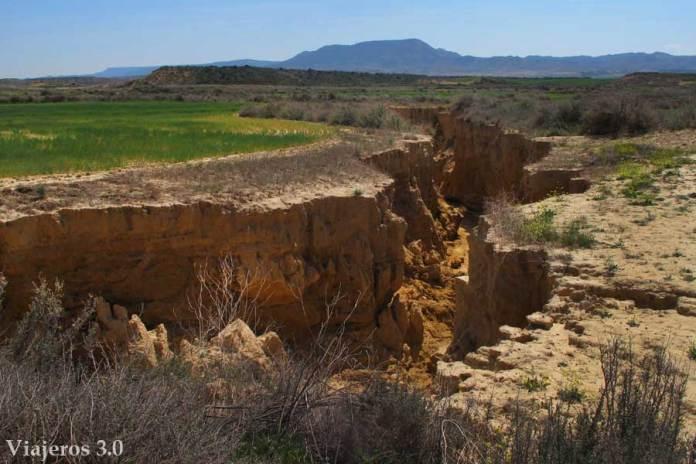 barranco en el desierto de las Bardenas Reales