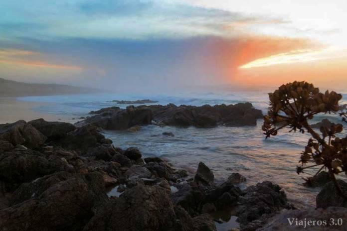 atardecer en la playa de Valdearenas