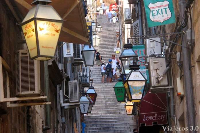 calles de Dubrovnik, ruta por Croacia y Eslovenia
