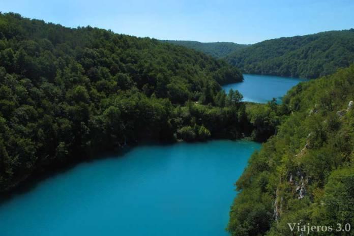 senderismo en los lagos de Plitvice