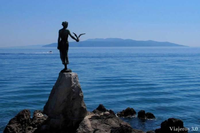 paseo marítimo de Opatija en Croacia