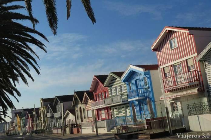 casas de Costa Nova, playas de Aveiro